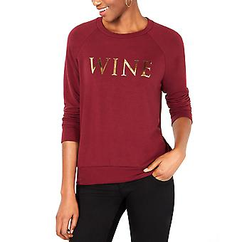 Carbon Copy | Metallic Wine-Graphic Sweatshirt