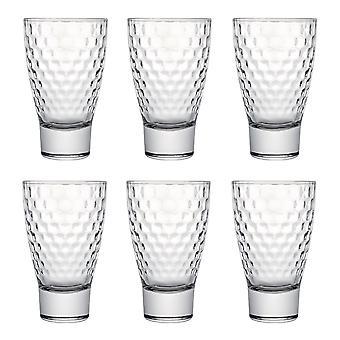 Honeycomb Hiball Glass, 300ml, Set of 6