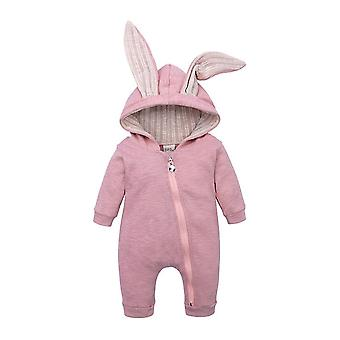 Spring Autumn Newborn Baby Clothes Bunny Rompers Cotton Hoodie Girl Onesies Fashion Infant Costume Boys Outfits
