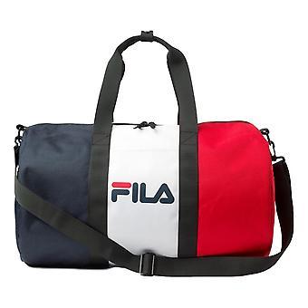 فيلا تيدني برميل حقيبة - Peacoat / أبيض / الصينية الأحمر