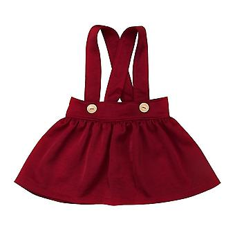 Enfants Baby Suspender Jupe Salopette Toddler Yellow/wine Red Skirt 0-3year's