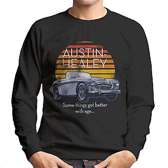 Austin Healey Jotkut asiat paranevat iän myötä Brittiläinen Motor Heritage Men's Collegepaita