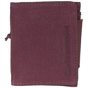 lifeventure rfid protected wallet - aubergine waxed canvas