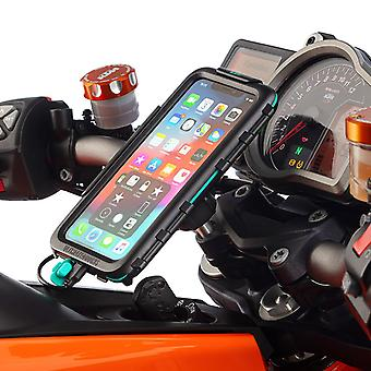 Motorcycle top clamp waterproof hard case kit iphone xs max