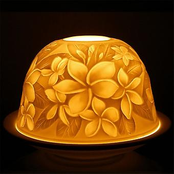 Nordic Lights Candle Shade & Plate - Plumeria Flower