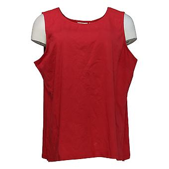 Joan Rivers Classics Collection Women's Top Scoop Neck Tank Red A295141