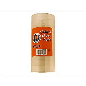 STUK Simply Clear Tape 22mm x 25m x 10 SCT10R