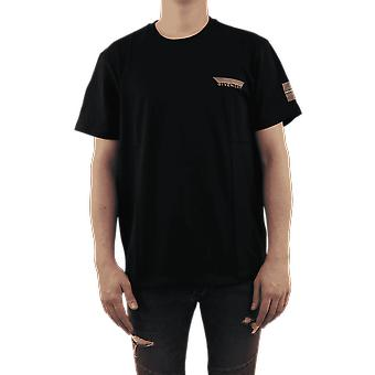 Givenchy Reflective nastro t-shirt nero bm70wj3002001 Top