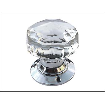 Securit Glass Mortice Knob Set Chrome Plated 65mm S3290