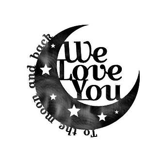 To The Moon & Back Moon Metal Wall Art