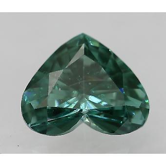 Cert 0.26 Karaat Fancy Vivid Blue VVS2 Heart Enhanced Natural Diamond 4.99x4.1mm