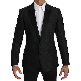 Dolce & Gabbana Musta Slim Fit Yksiosainen takki MARTINI Bleiseri