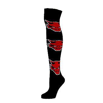 Over The Knee Socks Devil Face Girl og Women's Størrelse 4-8 UK