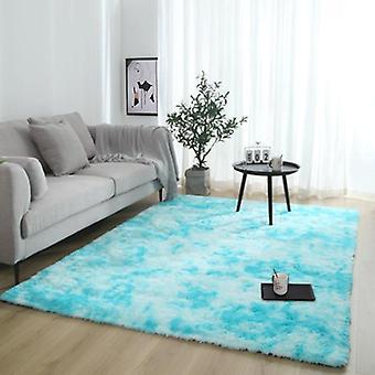 Plüsch Teppich für Wohnzimmer dick flauschigen Teppich Bett Boden weichen grauen Teppiche Krawatte
