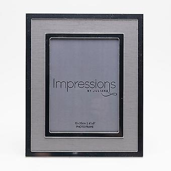 Impressions By Juliana Silverplated Linen Insert Photo Frame 6 X 8