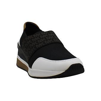 Michael Kors MK Women's Felix Trainer Mesh Sneakers Shoes 9.5 Black Optic White