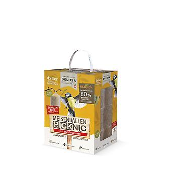 FRUNOL DELICIA® Delicia® Te bales Picknic with mealworms in the net, 24 pieces