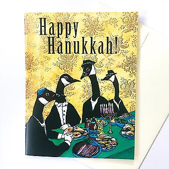 بطاقة هانوكا فريدة من نوعها أو بطاقة مجموعة الحيوان هانوكا الأوز