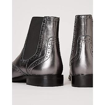 Brand - find. Women's Leather Brogue Chelsea Boots
