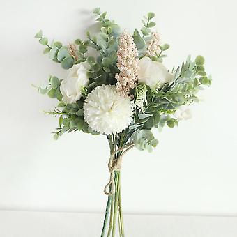 يو تشو الزفاف باقة الحرير الاصطناعي كرابابل زهرة وصيفة العروس باقة