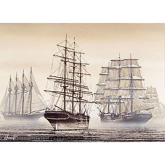 Know me 1000 Pieces Jigsaw Puzzles for Adults - Tall Ships Over The Rivers Landscape 1000 Piece