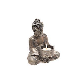 Support assis de bougie de lampe de thé de Bouddha