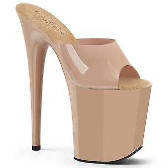 Pleaser Damen's Schuhe FLAMINGO-801N Creme (Jelly-Like) TPU/Cream