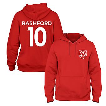 Marcus Rashford 10 Club Style Joueur De Football Hoodie