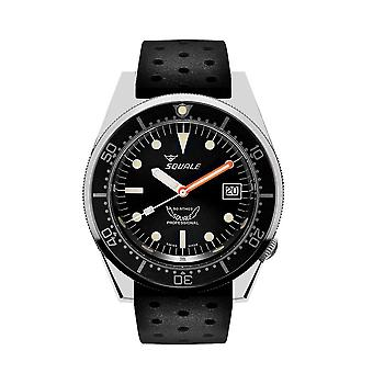 Squale 1521 Classic black rubber black 1521CL. Nt
