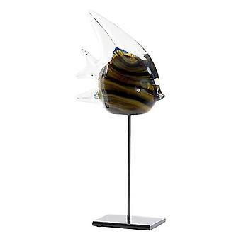 Dekorativ figur Dekodonia Metal Crystal Fish (16 x 7 x 34 cm)