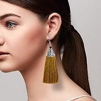 Tropical Tassel African Drop Earrings Thread Earrings