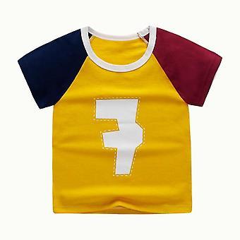 Καλοκαίρι μωρό T-shirt κοντομάνικο ανθρώπινο τυπωμένο βαμβάκι casual κορυφές T-shirts