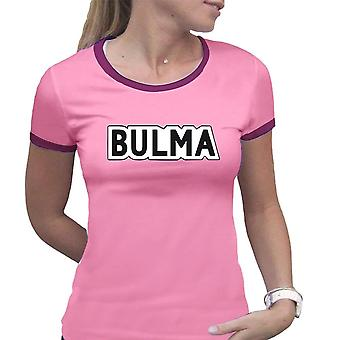 Women's Dragon Ball Bulma Pink Fitted T-Shirt