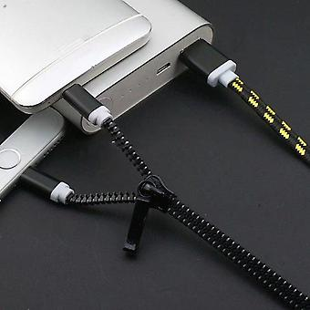 Dual-connector Zipper Charging Cable
