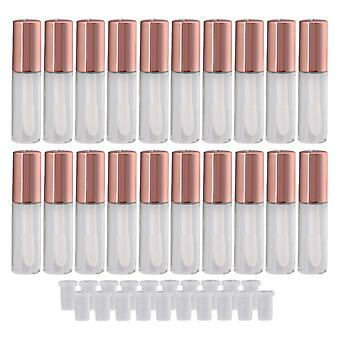 20x Rose Gold 1.2ml Empty Lip Gloss Tube Lip Balm Bottle w/ Bouchon