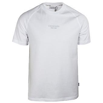 Calvin klein men's bright white centre logo t-shirt