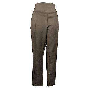 Andrew Marc Women's Pants Tapered Leg Double Stitch Seams Brown