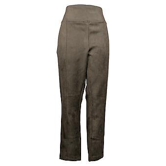أندرو مارك السراويل المرأة مدببة الساق مزدوجة غرزة طبقات براون