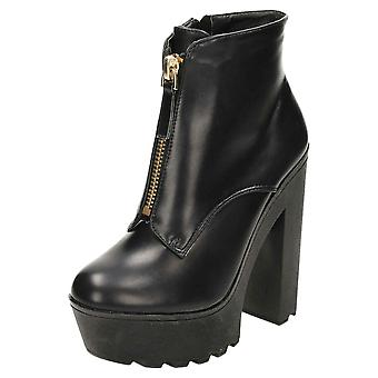 Koi Footwear Chunky Ankle Boots High Heel Platform Gothic