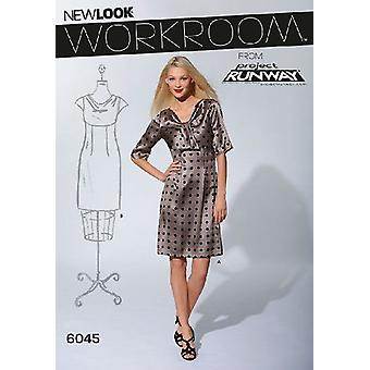 New Look Sewing Pattern 6045 Misses Dresses Size 8-18 A