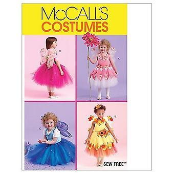 McCalls ompelu kuvio 5950 taaperot lasten keiju puvut koko 1-3