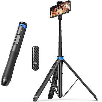 HanFei 130CM Selfiestick, Bluetooth Selfie-Stick mit Hochbelastbarem Aluminium und Rutschfesten