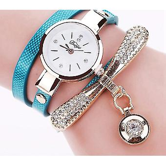 ブレスレットウォッチ - 高級ゴールドクリスタルファッションクォーツ腕時計