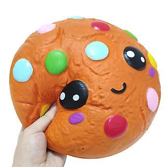ריבאונד איטי גדול עוגיות שעועית שוקולד מעוך, נגד מתח הרפיה צעצוע לילדים מבוגרים