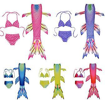 Uimapuku lapset merenneito kolme osaa flipperit uimapuvut