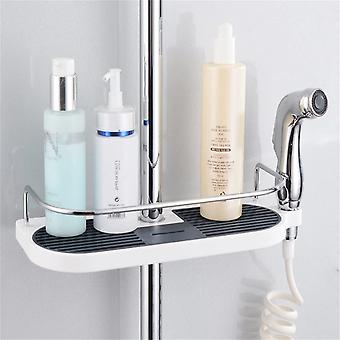 Bathroom Pole Shelf Shower Storage Rack Holder