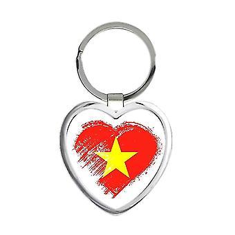 ギフトキーチェーン:ベトナムのハートベトナム