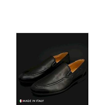 Duca di Morrone - Shoes - Moccasins - 013-PELLE-NERO - Men - Schwartz - EU 41