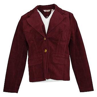 Laurie Felt Women's Blazer Corduroy 2-Button with Pockets Purple A367302
