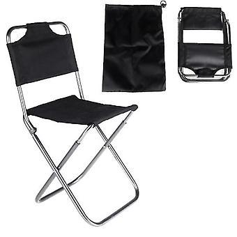 المحمولة للطي الألومنيوم أكسفورد القماش كرسي الصيد في الهواء الطلق التخييم مع مسند الظهر حمل حقيبة سوداء